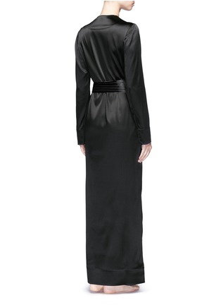 Back View - Click To Enlarge - La Perla - 'Talisman' silk satin night robe