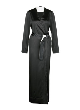 Main View - Click To Enlarge - La Perla - 'Talisman' silk satin night robe