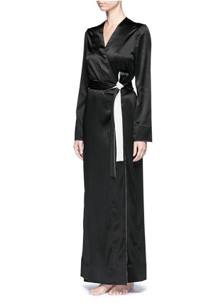 Figure View - Click To Enlarge - La Perla - 'Talisman' silk satin night robe