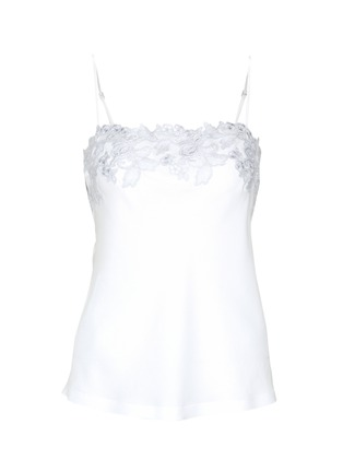 Main View - Click To Enlarge - La Perla - 'Moonlight' metallic floral embroidered silk blend camisole