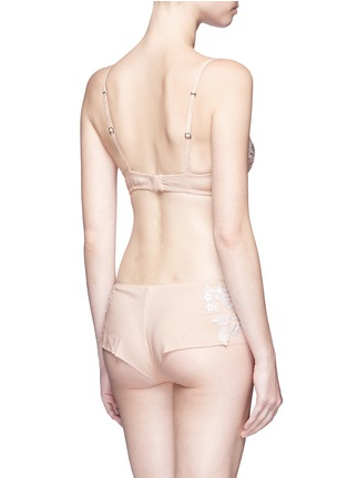 Back View - Click To Enlarge - La Perla - 'Moonlight' metallic floral embroidered tulle underwired bra