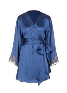 La Perla'Maison' floral embroidered silk blend robe