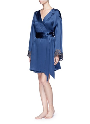 Figure View - Click To Enlarge - La Perla - 'Maison' floral embroidered silk blend robe