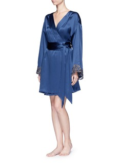 La Perla 'Maison' floral embroidered silk blend robe