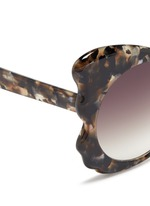 Tortoiseshell effect acetate butterfly cat eye sunglasses