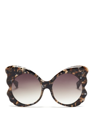 Main View - Click To Enlarge - Matthew Williamson - Tortoiseshell effect acetate butterfly cat eye sunglasses