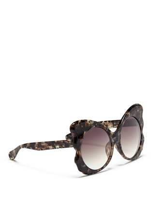 Figure View - Click To Enlarge - Matthew Williamson - Tortoiseshell effect acetate butterfly cat eye sunglasses
