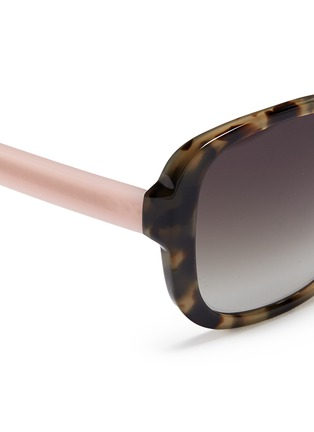 Detail View - Click To Enlarge - Matthew Williamson - Contrast temple tortoiseshell acetate oversize sunglasses