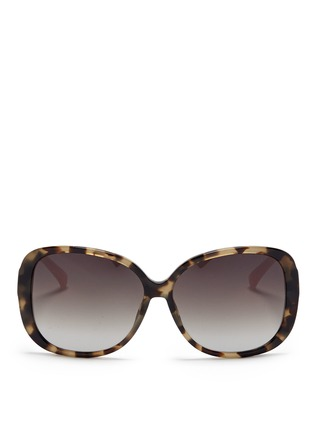 Main View - Click To Enlarge - Matthew Williamson - Contrast temple tortoiseshell acetate oversize sunglasses