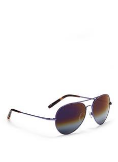 MATTHEW WILLIAMSONStainless steel aviator mirror sunglasses