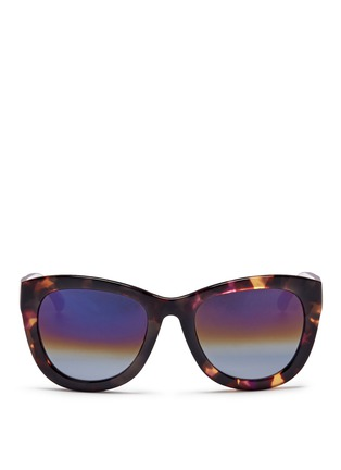 Main View - Click To Enlarge - Matthew Williamson - Contrast temple tortoiseshell acetate mirror sunglasses