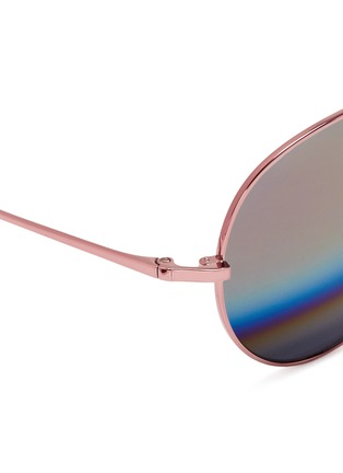 Detail View - Click To Enlarge - Matthew Williamson - Stainless steel aviator mirror sunglasses