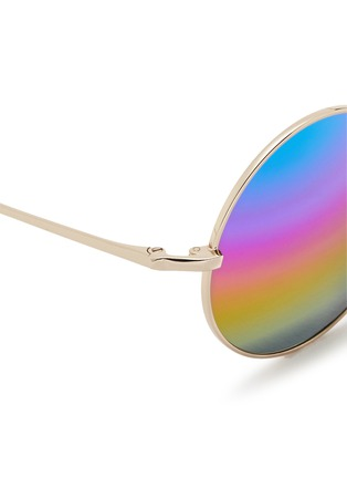 Detail View - Click To Enlarge - Matthew Williamson - Round metal mirror sunglasses