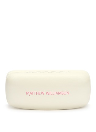 Matthew Williamson-Round metal mirror sunglasses