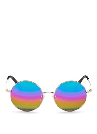 Main View - Click To Enlarge - Matthew Williamson - Round metal mirror sunglasses