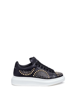 ALEXANDER MCQUEEN Chunky outsole mix stud leather sneakers