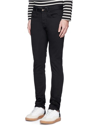 Front View - Click To Enlarge - Denham - 'Bolt' fade proof skinny jeans