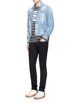 Figure View - Click To Enlarge - Denham - 'Bolt' fade proof skinny jeans
