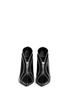 ALEXANDER WANG 'Kendal' zip teeth trim leather booties