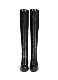 ALEXANDER WANG 'Federica High' double zip leather boots