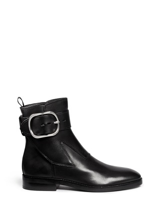 Main View - Click To Enlarge - Alexander Wang  - 'Bara' ankle strap leather boots