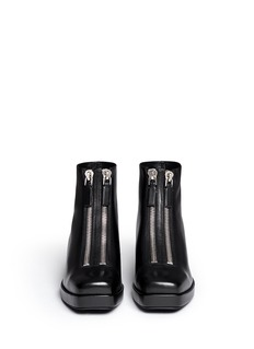 ALEXANDER WANG 'Federica Low' double zip leather boots