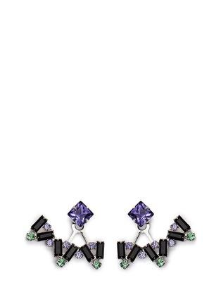 Main View - Click To Enlarge - Joomi Lim - 'Modern Deco' Swarovski crystal earrings