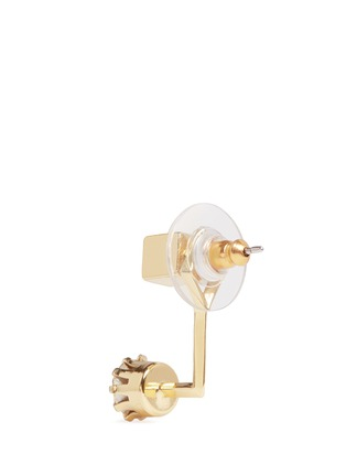 Detail View - Click To Enlarge - Joomi Lim - 'Shape Shifter' crystal stud 16k gold plated earrings