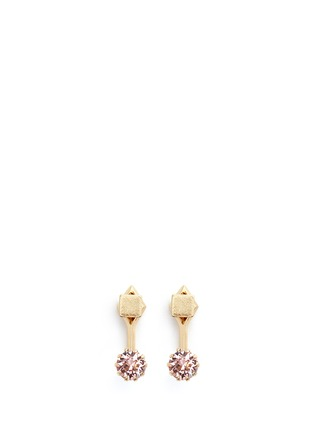 Main View - Click To Enlarge - Joomi Lim - 'Shape Shifter' crystal stud 16k gold plated earrings