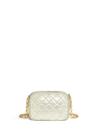 Back View - Click To Enlarge - Vintage Chanel - Small quilted metallic leather camera bag