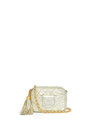Main View - Click To Enlarge - Vintage Chanel - Small quilted metallic leather camera bag