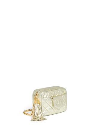 Figure View - Click To Enlarge - Vintage Chanel - Small quilted metallic leather camera bag