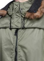 Detachable shearling hood oversized parka