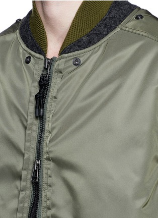 Detail View - Click To Enlarge - 3.1 Phillip Lim - Detachable shearling hood oversized parka