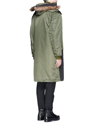 Back View - Click To Enlarge - 3.1 Phillip Lim - Detachable shearling hood oversized parka