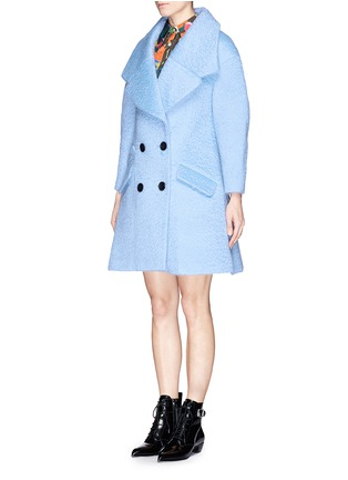 Front View - Click To Enlarge - Chictopia - Wide lapel oversize wool-mohair midi coat