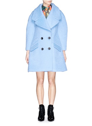 Main View - Click To Enlarge - Chictopia - Wide lapel oversize wool-mohair midi coat
