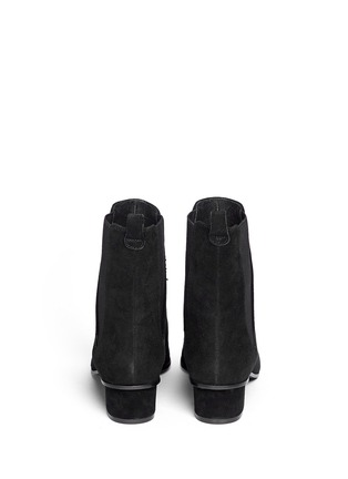Back View - Click To Enlarge - Ash - 'Mira' point toe suede Chelsea boots