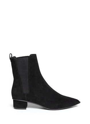 Main View - Click To Enlarge - Ash - 'Mira' point toe suede Chelsea boots
