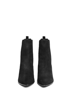 ASH'Mira' point toe suede Chelsea boots