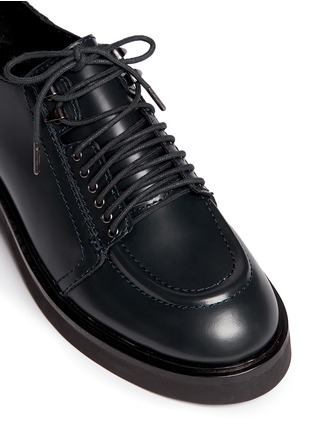 Detail View - Click To Enlarge - Ash - 'Novak' contrast topstitch polished leather brogues