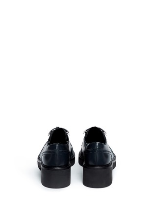 Back View - Click To Enlarge - Ash - 'Novak' contrast topstitch polished leather brogues