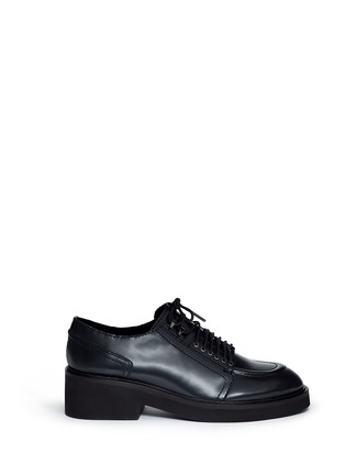 Main View - Click To Enlarge - Ash - 'Novak' contrast topstitch polished leather brogues