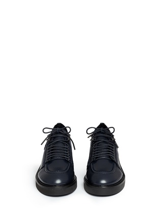 Figure View - Click To Enlarge - Ash - 'Novak' contrast topstitch polished leather brogues