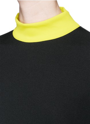 Detail View - Click To Enlarge - TANYA TAYLOR - 'Tori' rib knit turtleneck sweater dress