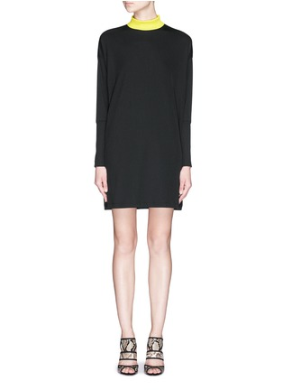 Main View - Click To Enlarge - TANYA TAYLOR - 'Tori' rib knit turtleneck sweater dress