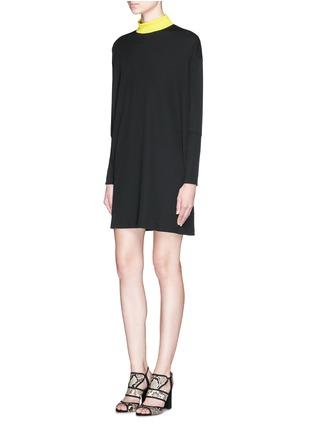 Figure View - Click To Enlarge - TANYA TAYLOR - 'Tori' rib knit turtleneck sweater dress