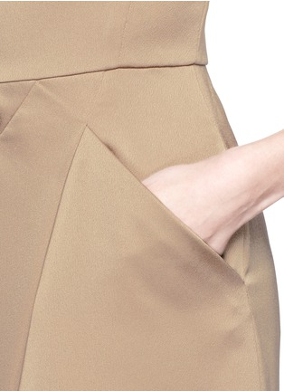 Detail View - Click To Enlarge - Armani Collezioni - Asymmetric pleat satin dress