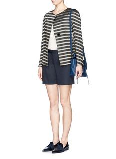 ARMANI COLLEZIONIColourblock stripe collarless jacket