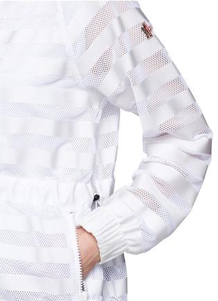 Detail View - Click To Enlarge - Moncler Grenoble - 'Camlez' nylon stripe mesh jacket